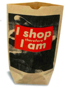 Barbara Kruger, I shop therefore I am, 1990 MOMA, Nueva York